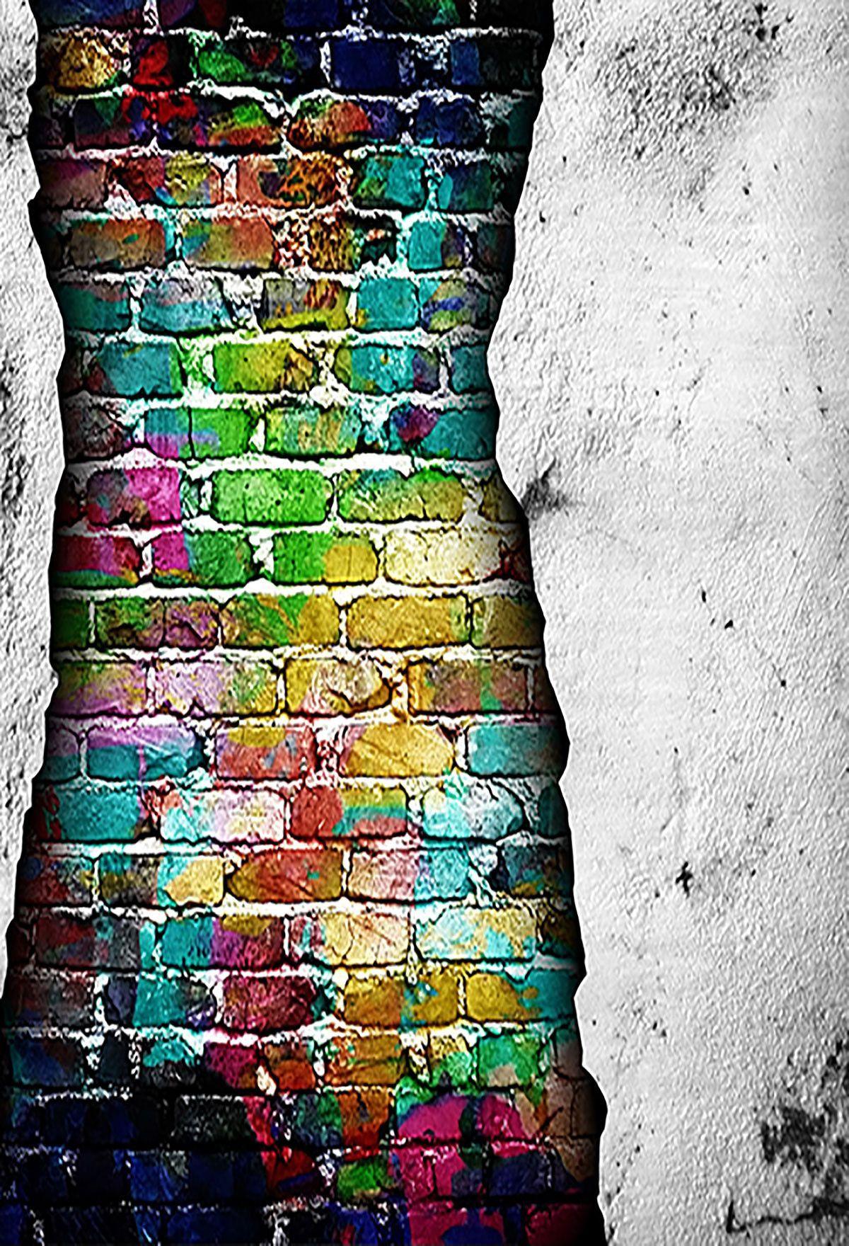 Brick wall backdrop diy photography background flower