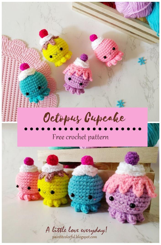 Octopus Cupcake amigurumi pattern - A little love everyday!