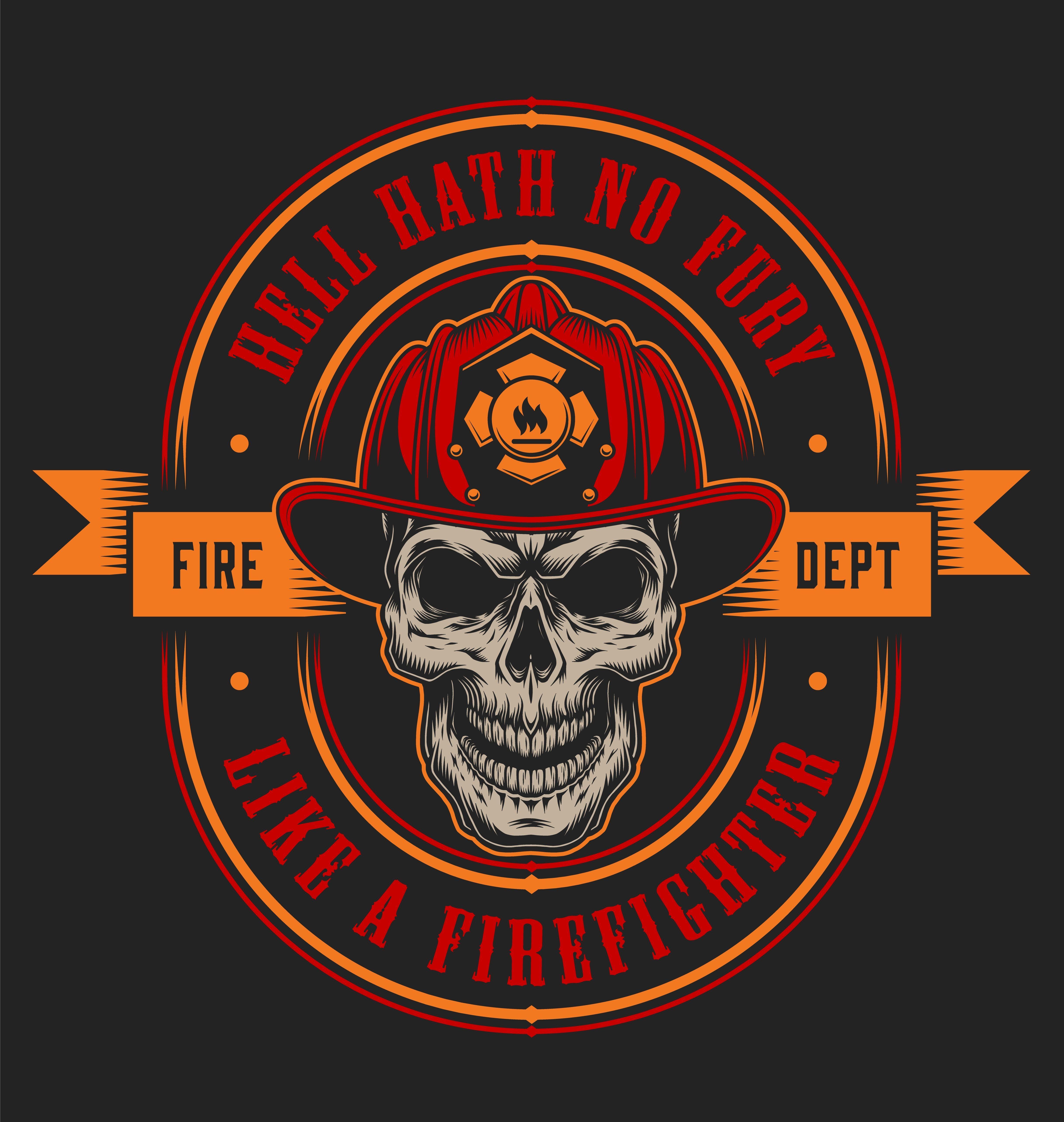 Vintage Firefighter Designs Set   Firefighter custom ...