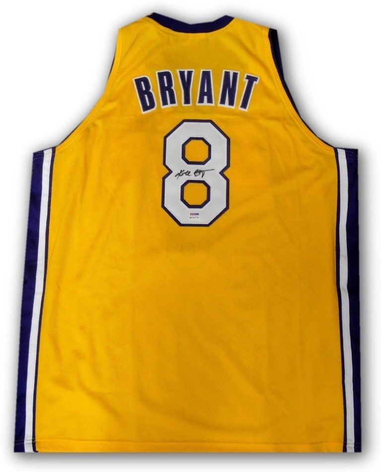 a9b34bf2e Kobe Bryant Hand Signed Autographed  8 Yellow Jersey LA Lakers PSA DNA  B13169 (eBay Link)