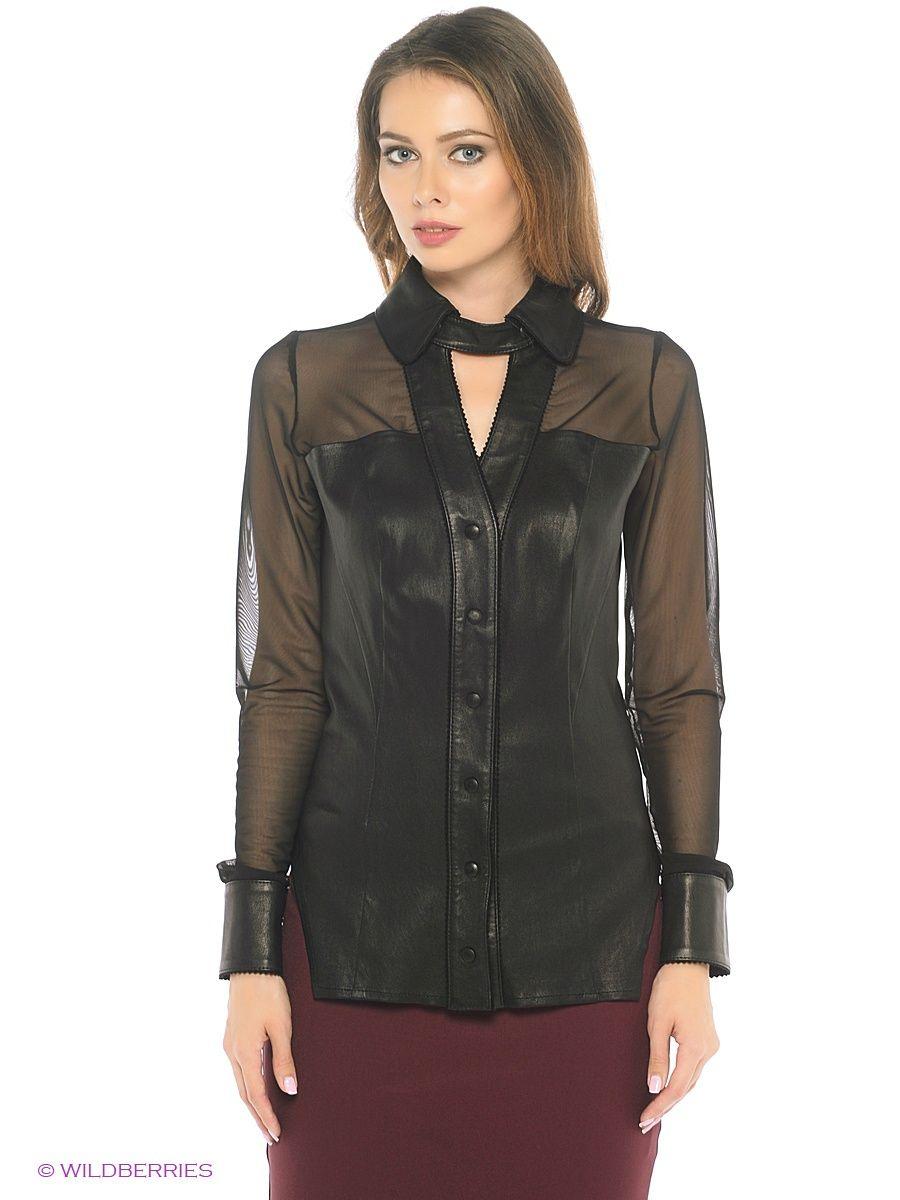 Кожаная куртка Adamo. Цвет черный.