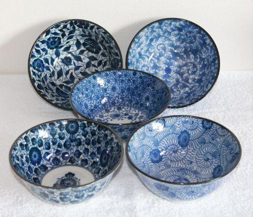 asia matcha reisschalen japan porzellan blau weiss blumen deep blue ein traum in blau. Black Bedroom Furniture Sets. Home Design Ideas