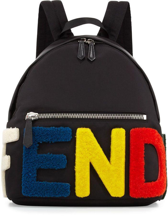 710eabdf1c Fendi Furry-Logo Nylon Backpack