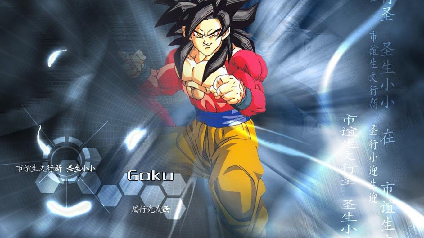 Son goku wallpaper 1366x768 son goku dragon ball gt - Dragon ball gt goku wallpaper ...