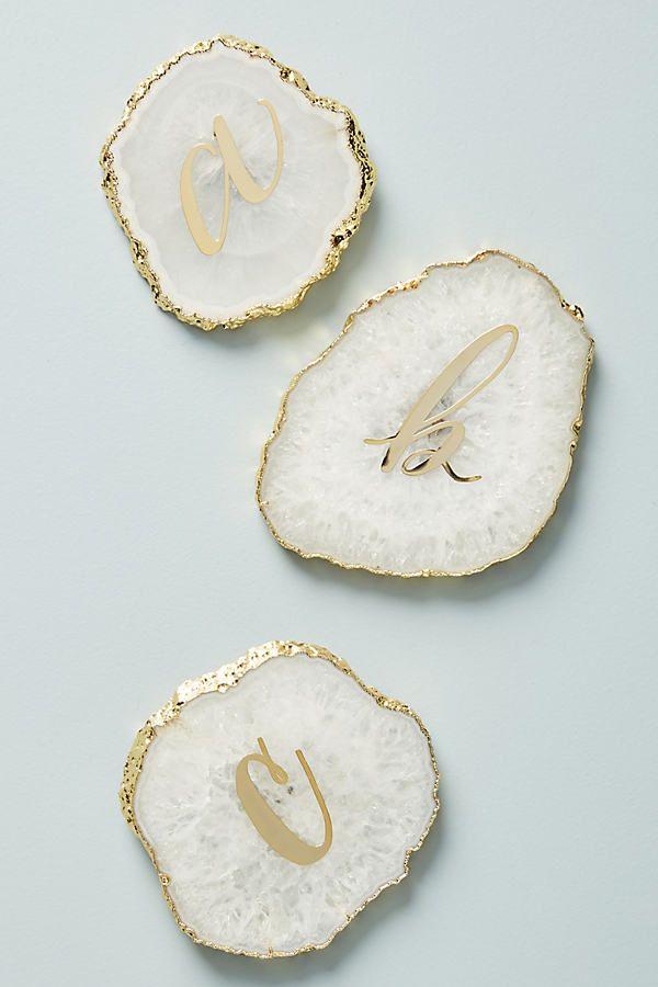 Monogram Agate Coaster