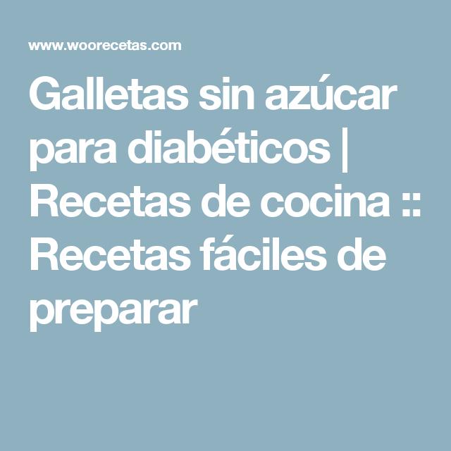 Galletas sin azúcar para diabéticos   Recetas de cocina :: Recetas fáciles de preparar