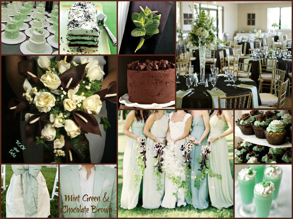MINT GREEN CHOCOLATE BROWN Wedding Inspiration By Rock Your Locks