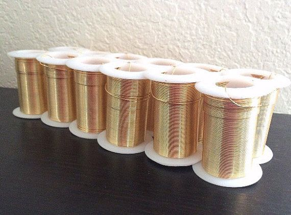 20 Gauge Gold Wire 45 Feet / 15 Yards Tarnish Resistant Jewelry ...