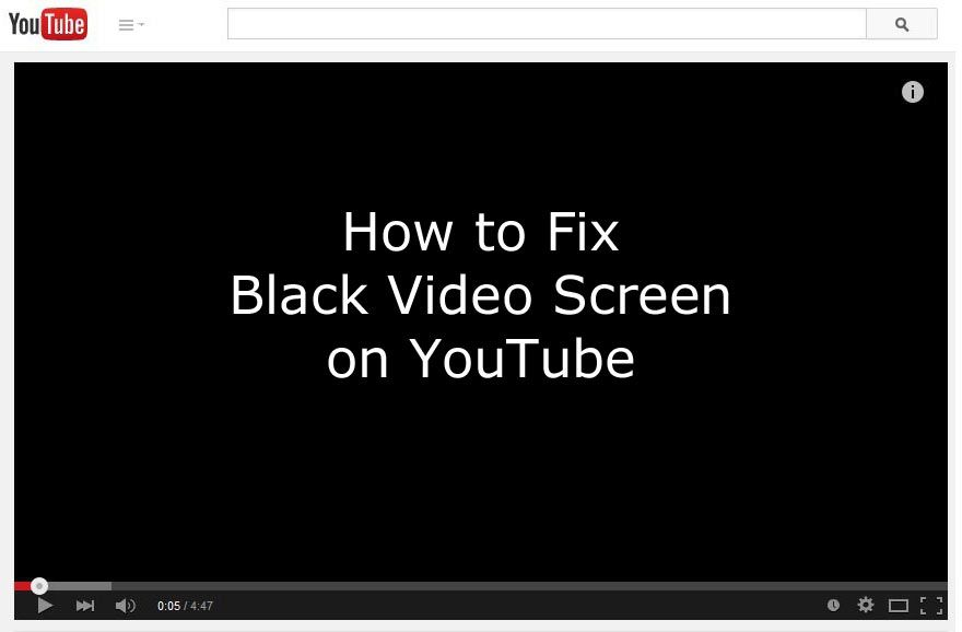 Fix black video screen on youtube while using google