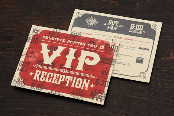 Real Estate Council Fundraiser Invitation and Collateral Design - fundraiser invitation