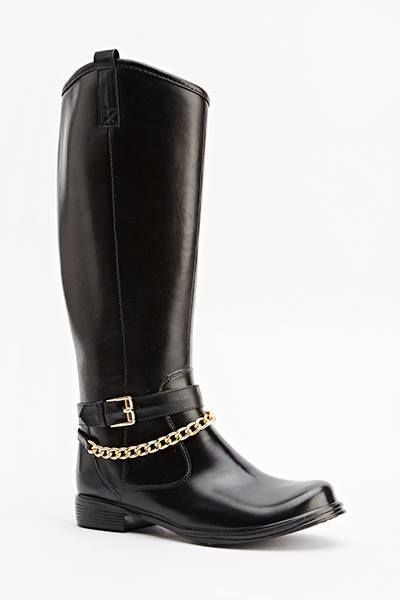 Womens Ladies Black Chain Low Block Heel Zip Knee High Boots Size UK 4,5,6,8 New Click On Link To Visit My Ebay Shop http://stores.ebay.co.uk/all-about-feet Useful Info: - Standard Size - Standard Fit - By Beauty Girl's - Black In Colour - Heel Height: 1 Inch - Inner Side Zip Fastening - Gold Chain Trim And Buckle Detail - Faux Leather Upper - Textile Lining #boots #kneehighboots #kneeboots #blackboots #black #lowheel #kneehigh #footwear #forsale #fashion #womens #ladies