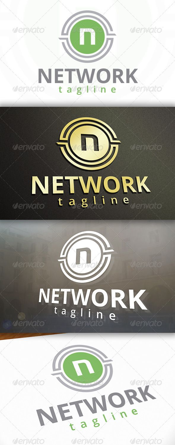 Network Logo — Vector EPS #software #design studio • Available here → https://graphicriver.net/item/network-logo/6866218?ref=pxcr