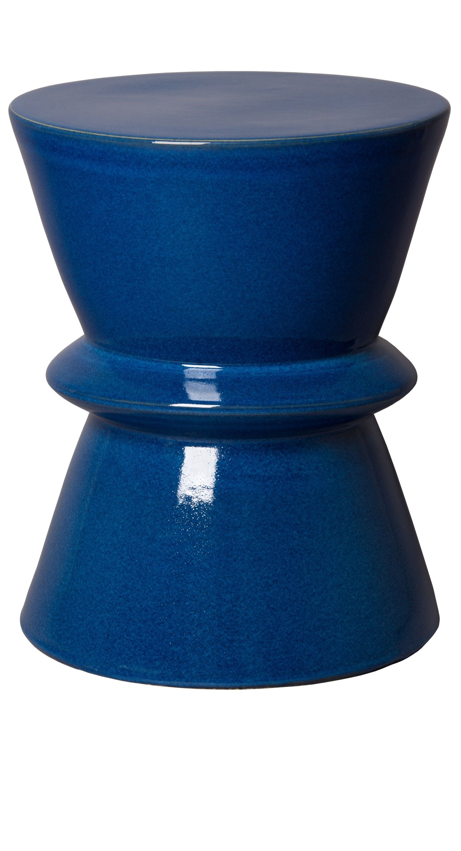 Blue Garden Stool Blue Ceramic Stools Blue Porcelain Stool