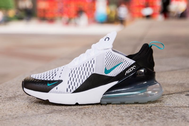 8dd4ea579365 Nike Air Max 270 AH8050-001 White Green Black Shoes for Sale-02 The Nike  Air Max 270 is a new mode from Nike Sportswear that extends upon their  unique Nike ...
