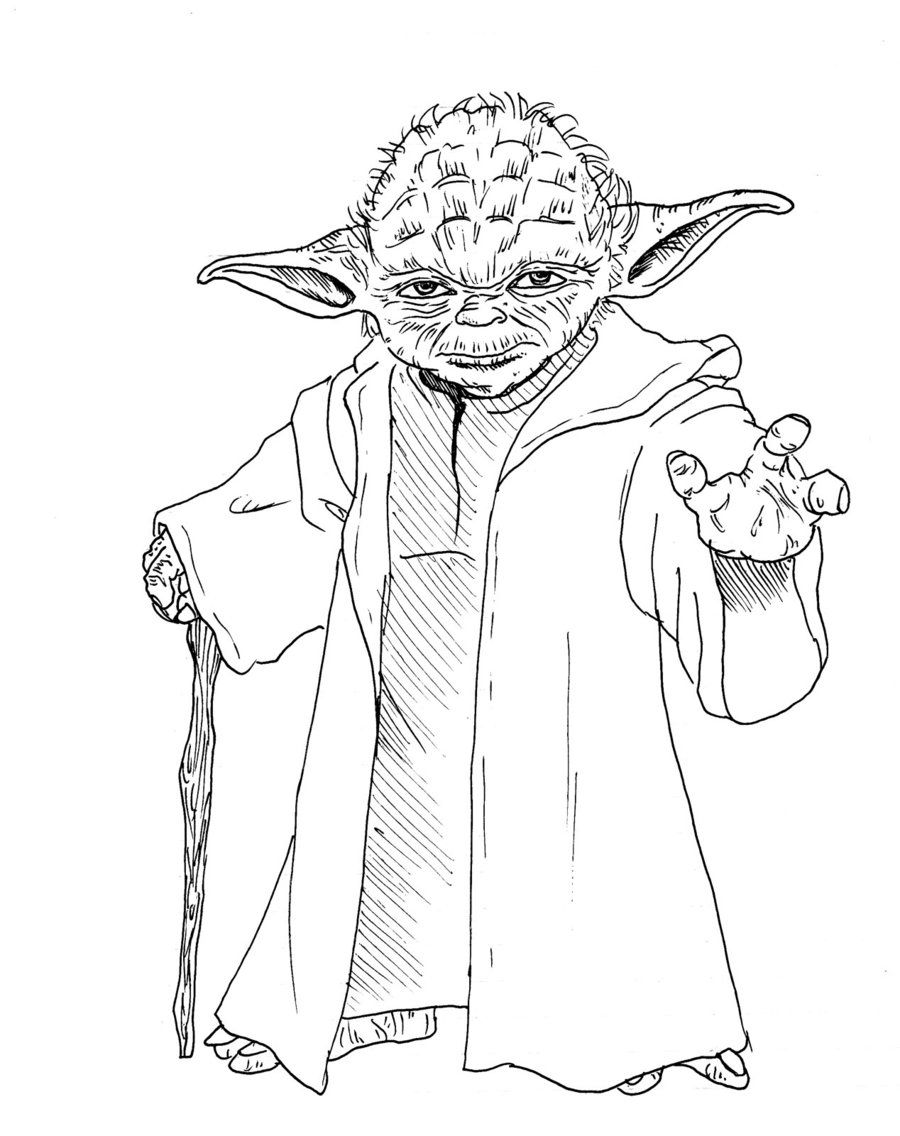 Lego Star Wars Yoda Coloring Pages Yoda coloring pages - | Nana ...