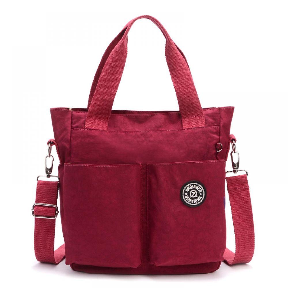 Women Handbag Nylon Waterproof Multifunction Zipper Tote Messenger Shoulder Bag