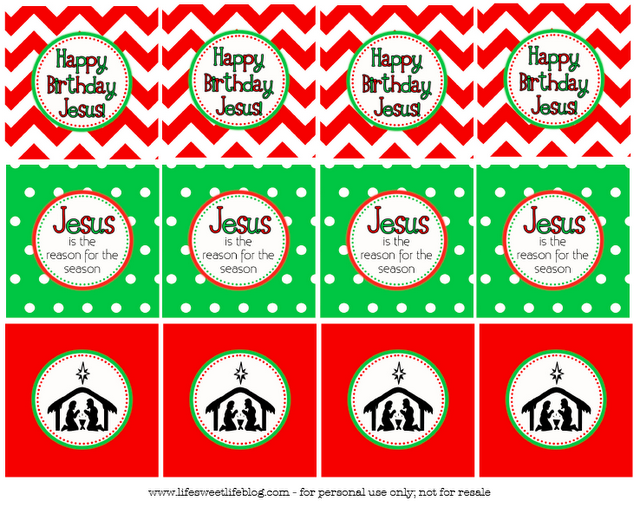 Life Life Happy Birthday Jesus Cupcake Toppers