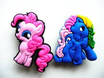 71a51055c Amazon.com  10 My Little Pony Shoe Charms for Jibbitz Croc Shoes   Wristband  Bracelet  Toys   Games