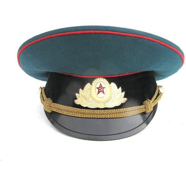 Soviet Russian military tank officer parade hat cap visor visors blue...  ( 50 561443cb3193