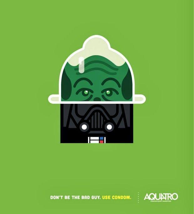 No seas el malo de la película, ¡usa condón!