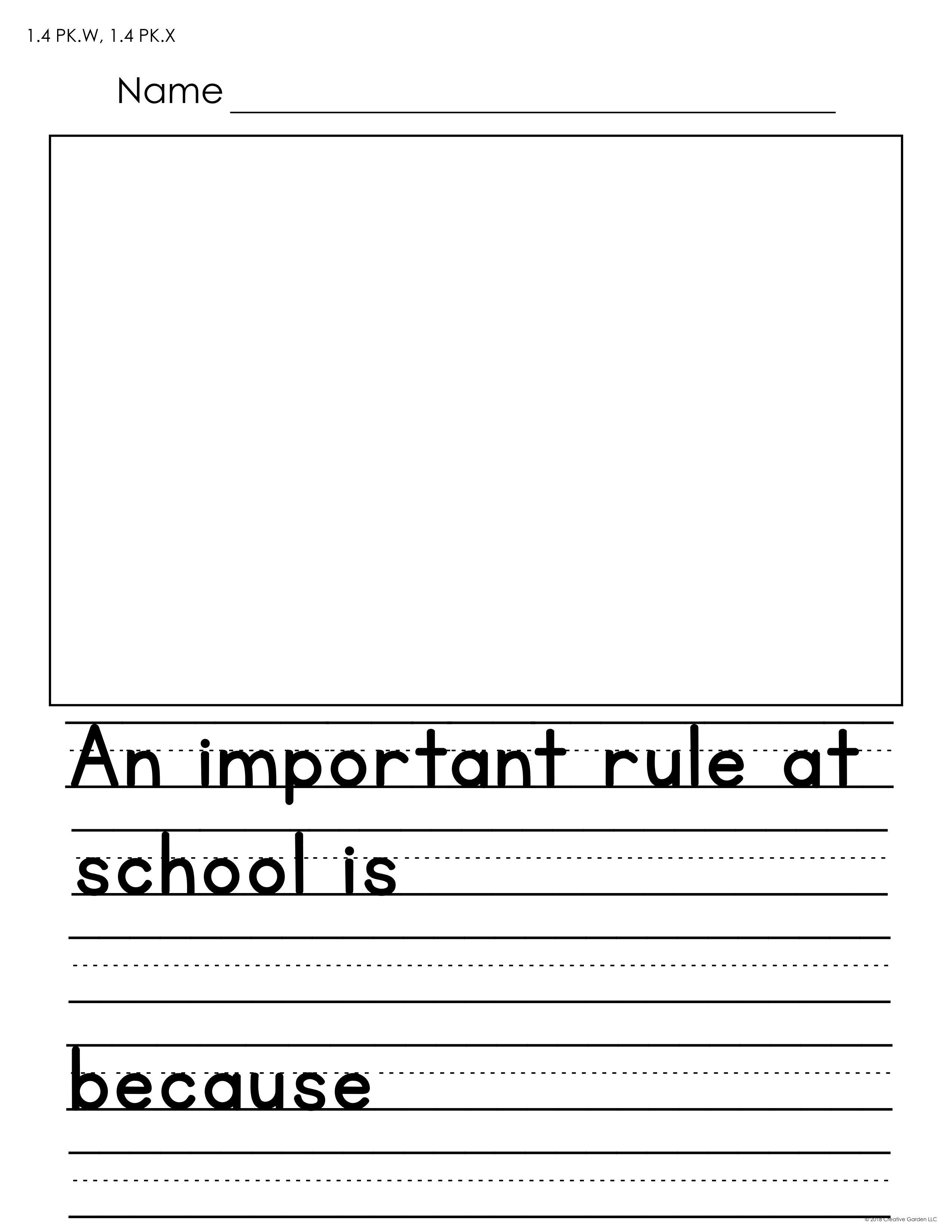 Writing Prompts For Preschool And Kindergarten Writing Prompts Writing Standards Prompts [ 3300 x 2550 Pixel ]