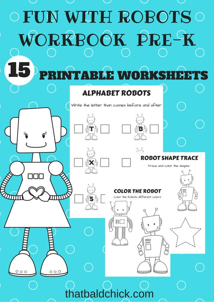 New Fun with Robots Printable Workbook Subscriber Freebie at ...