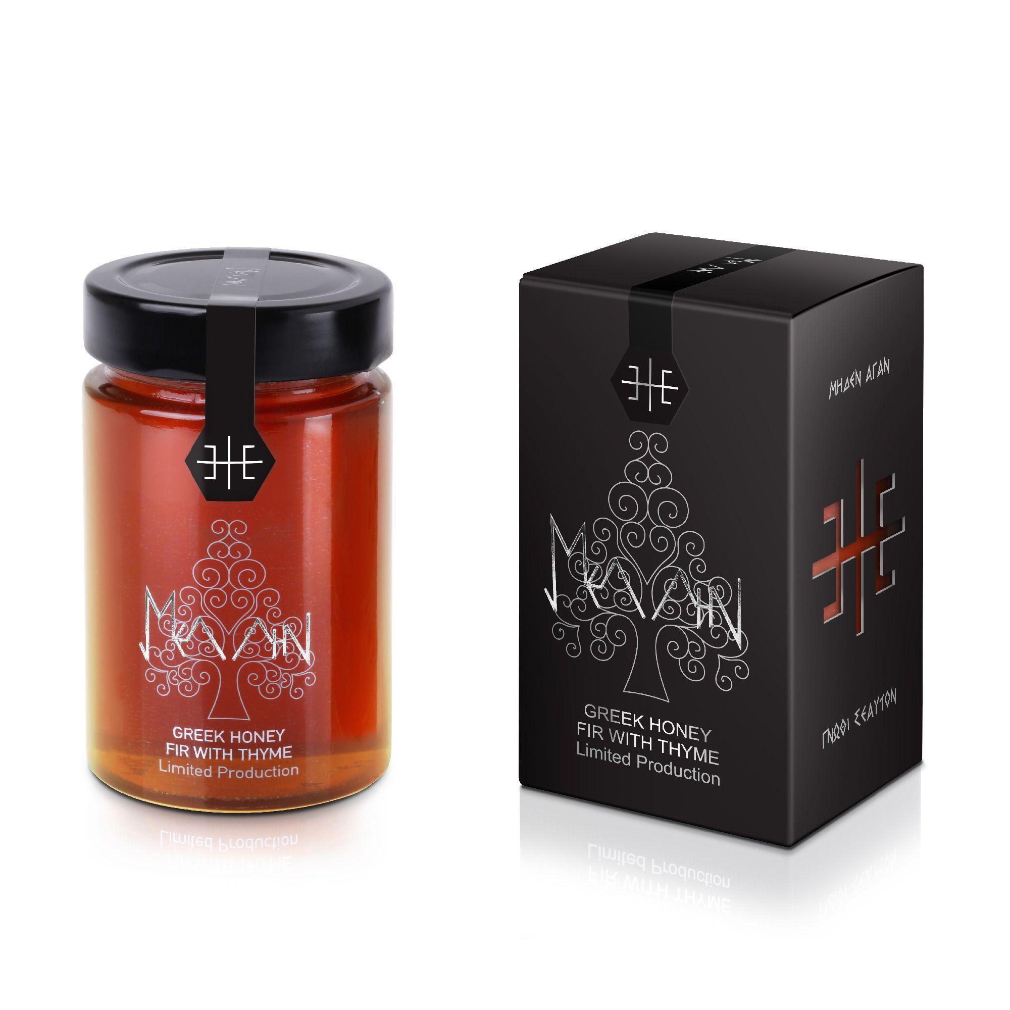 Mellin Premium Greek Honey Fir With Thyme Honey Packaging Honey Jar Labels Honey Design