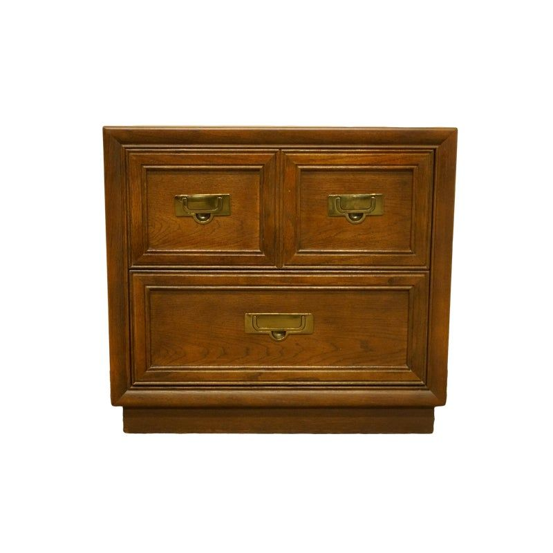 Stanley Furniture Campaign Style Two Drawer Nightstand Stanley Furniture Nightstand Furniture