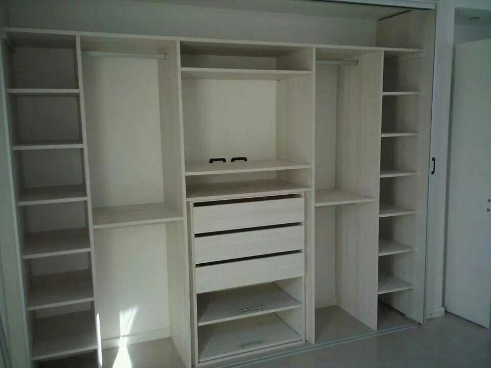 Closet melamina closet pinterest armario placares y for Closet dormitorio matrimonial