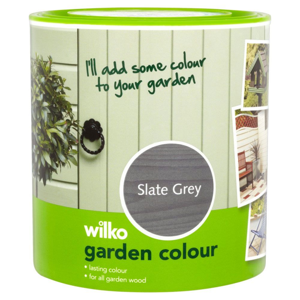 Garden Colour City Slate Exterior Paint 1l With Images