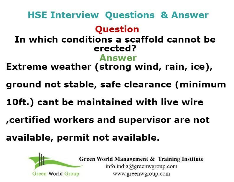 Safety Officer Interview Question And Answer WwwGreenworldsaudi
