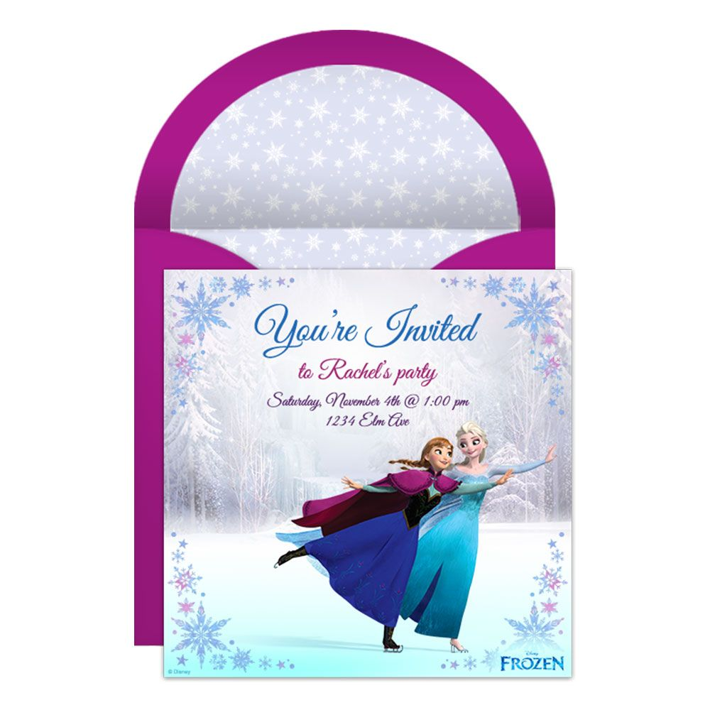 Free Electronic Wedding Invitations Templates: Frozen Online Party Invitation