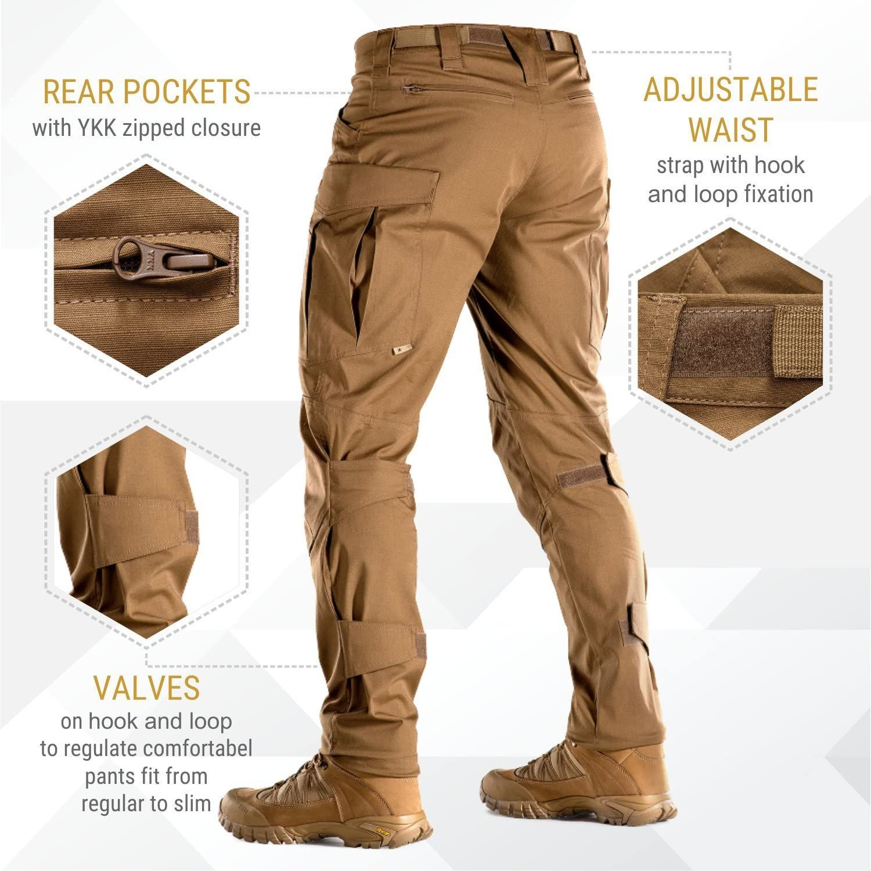 Amazon Com Conquistador Flex Pantalones Tacticos Hombre Con Bolsillos De Carg Pantalones De Hombre Moda Pantalones De Combate Pantalones De Trabajo Hombre