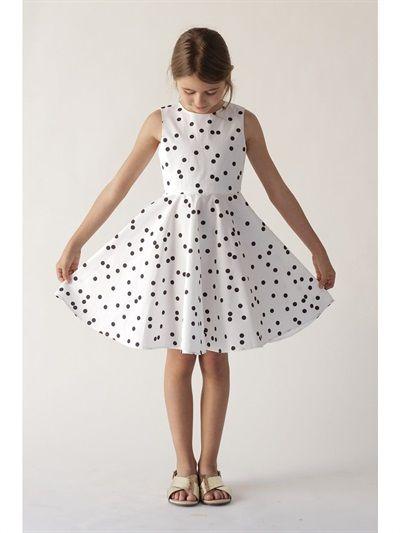 3efe63e091d VEGA POLKA DOT COTTON SATIN DRESS. VEGA POLKA DOT COTTON SATIN DRESS Little  Girl Dresses ...