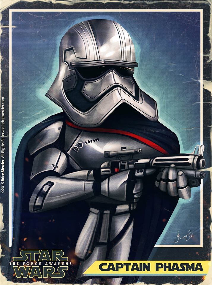 Caricature de Captain Phasma par Brice Mercier