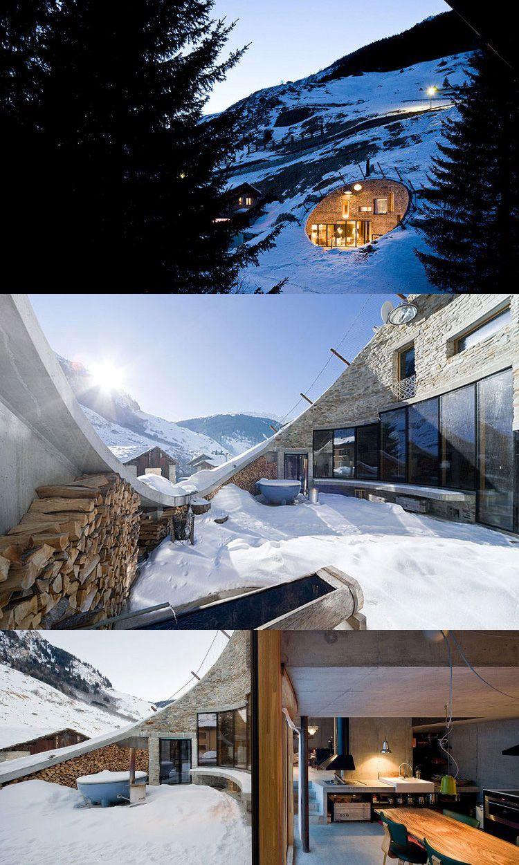 Une Maison Encastré Dans La Montagne ? La Villa Vals By Bjarne Mastenbroek  Et Christian Mülle