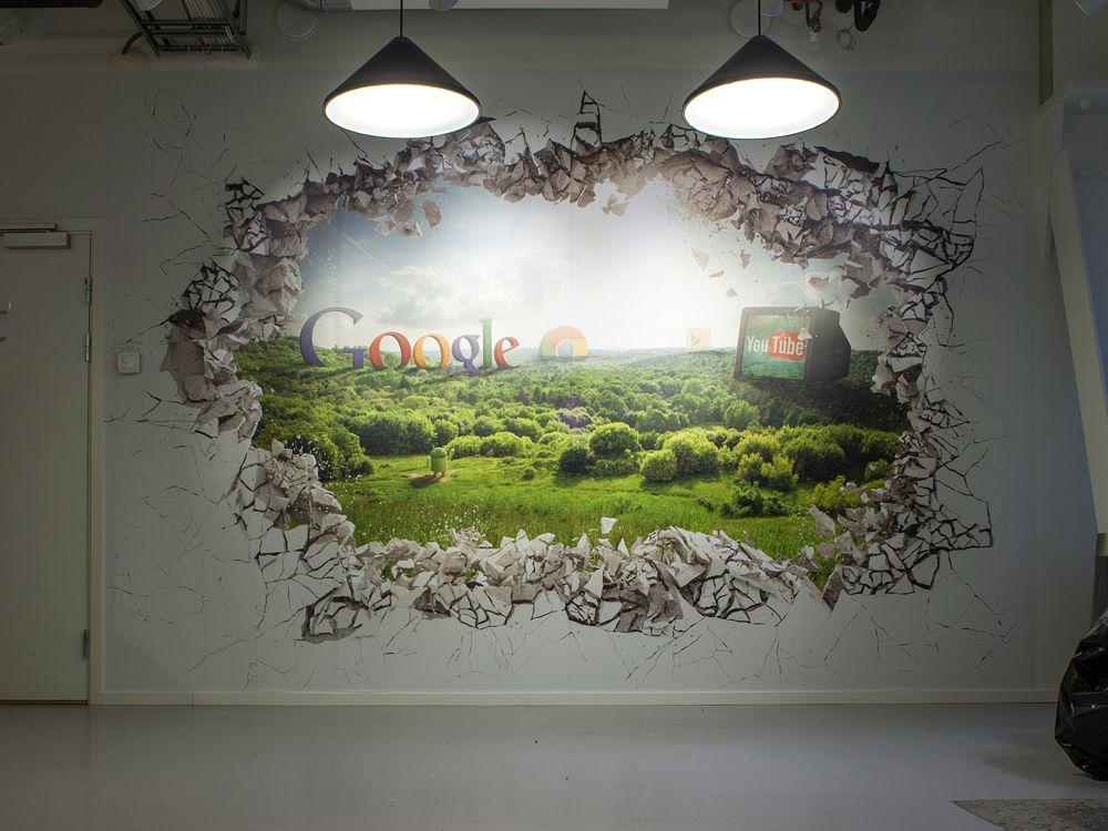 Google Office Wall