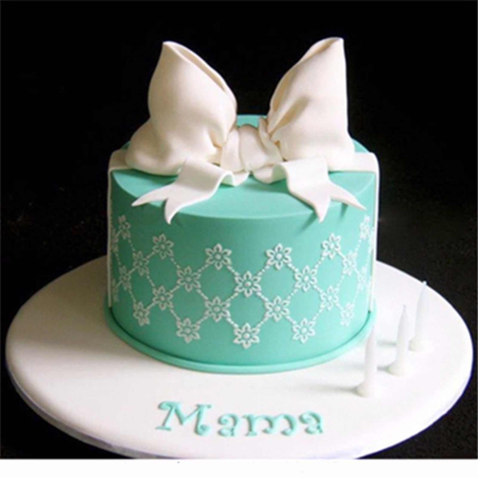 Mini Flowers Pattern Wedding Cake Stencil, Plantilla Para Tarta De ...