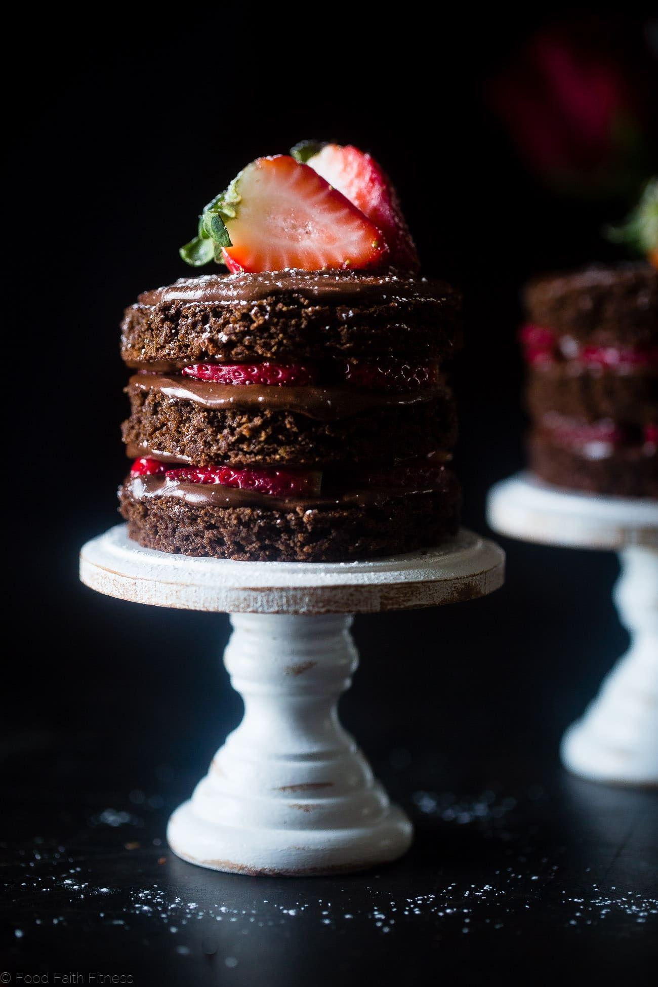Mini Erdbeer Schokolade Kuchen Fur Zwei Diese Mini Erdbeere Gluten