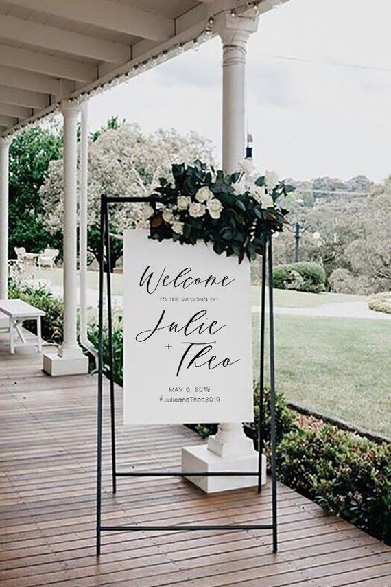 Classic Modern Wedding Welcome Sign Editable Template #002