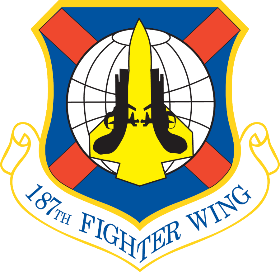 187th Fighter Wing, Dannelly Field, AL Air force patches