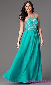 Buy Floor Length Halter Prom Dress by Masquerade at PromGirl ...
