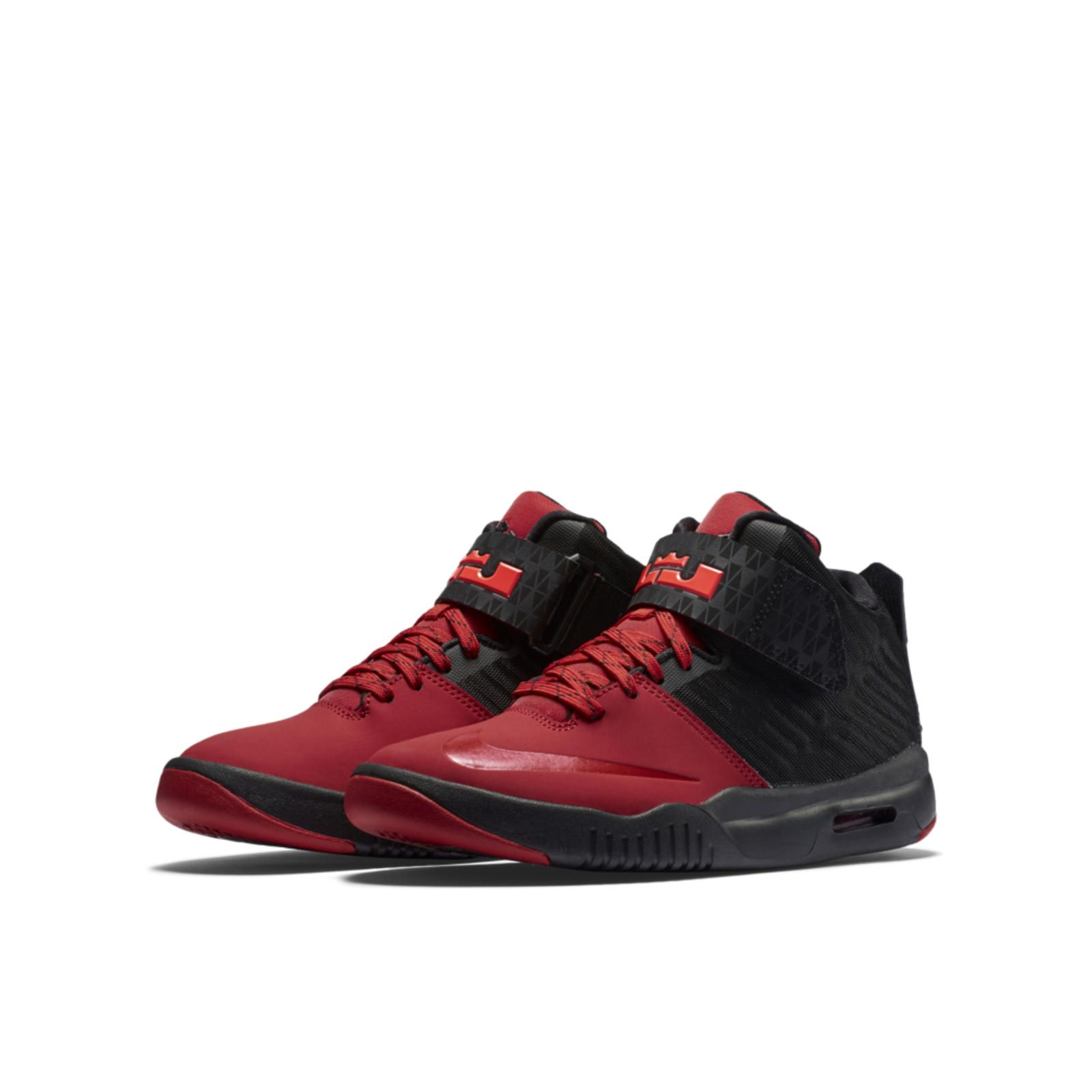 Buy Brand New Nike Air LeBron Akronite Black Bright Crimson University Red  Best from Reliable Brand New Nike Air LeBron Akronite Black Bright Crimson  ... 9e18c0663a20