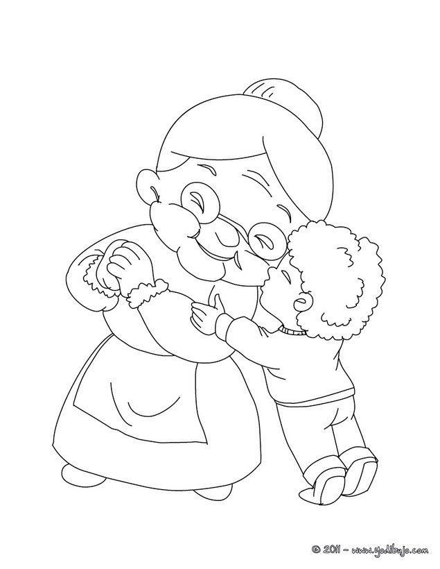 Dibujo Colorear Abuela6 6f4 L53 Jpg 635 820 Dibujo Abuela Abuelos Para Colorear Dibujos De Abuelitas
