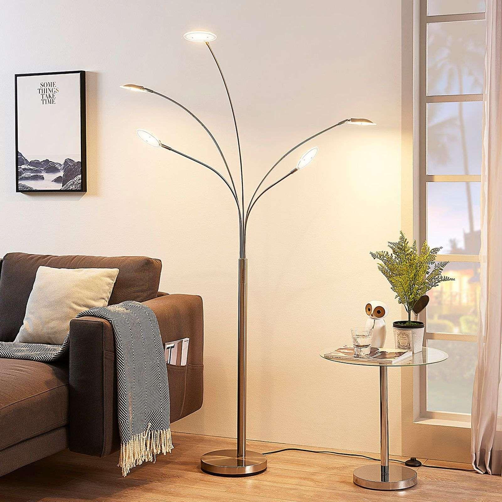 Lampadaire Led Anea A 5 Lampes En 2020 Lampadaire Lampadaire Salon Lampadaire Led