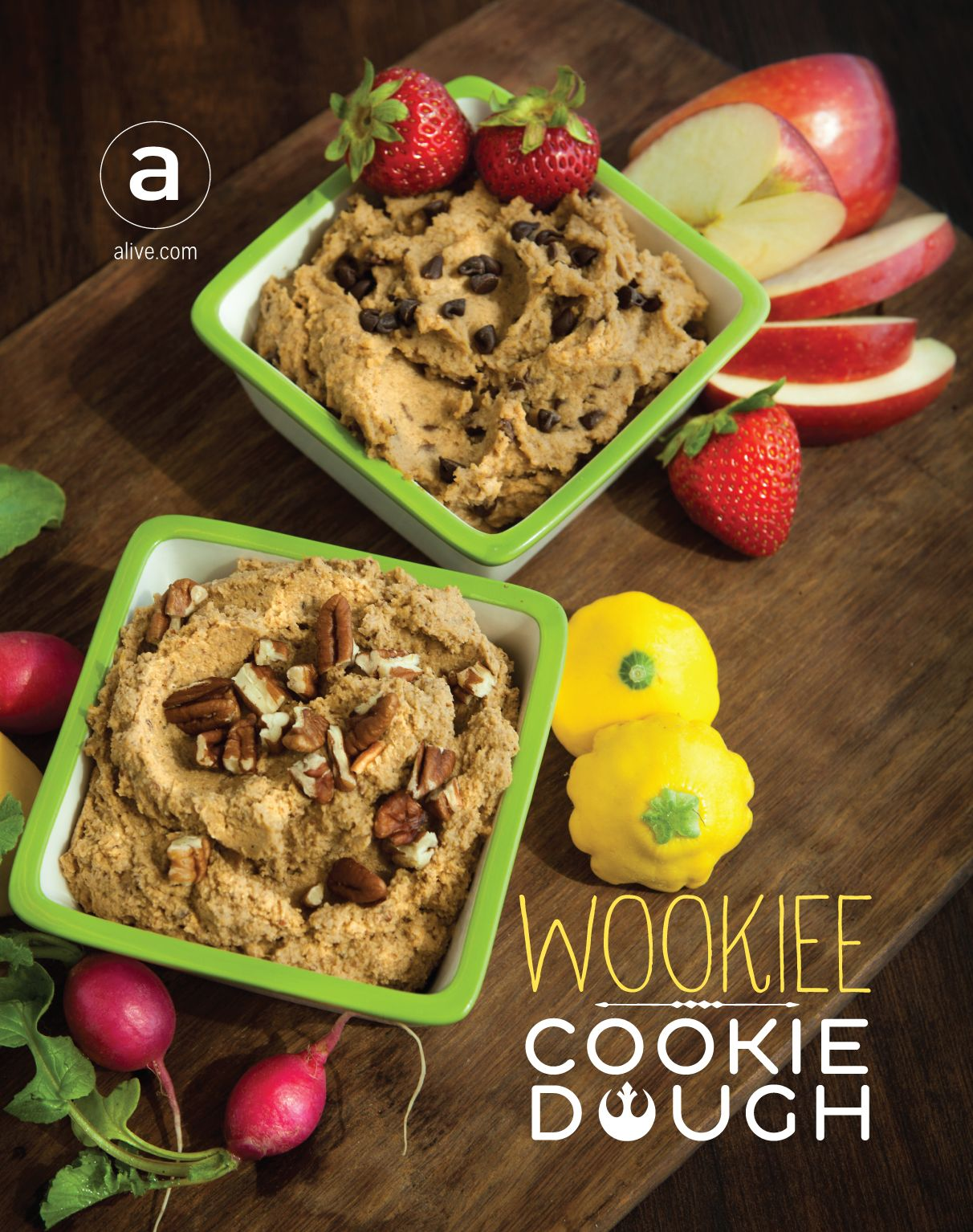 May the 4th be with you ... and may this vegan (Wookiee) Cookie Dough Hummus be in your tummy! #wookiee #starwars #maythe4th #theforceawakens