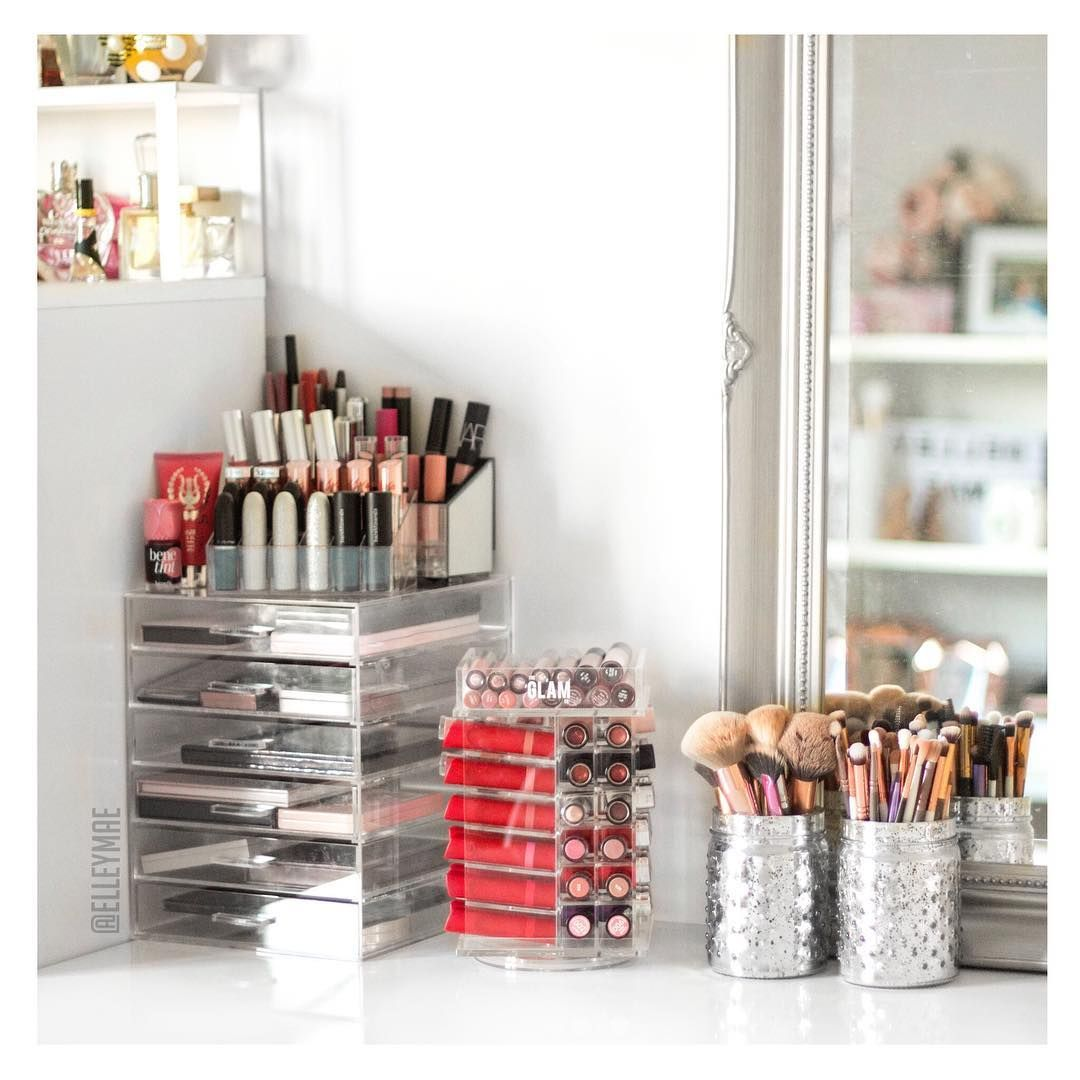my makeup vanity ikea alex drawers hm candle holders theglamco mini lipstick - Makeup Eitelkeit Beleuchtung Ikea