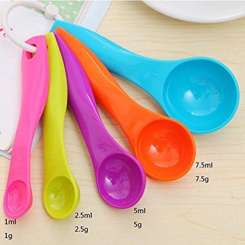5PC Measuring Spoons Spoon Cup Baking Utensil Set Kit