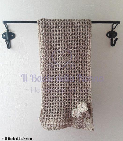 Sciarpe Alluncinetto Sciarpa Traforata In Caldo Cotone A