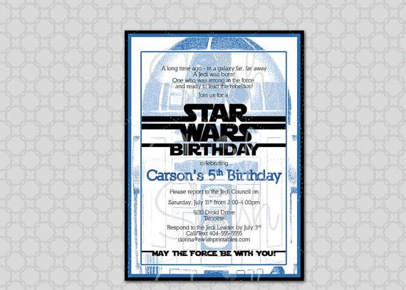 Star Wars Printable Invitation Orderecigsjuiceinfo - Star wars birthday invitation diy